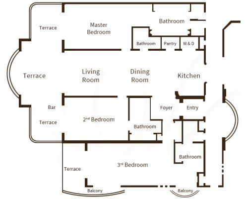 3 Bedroom Floor Plan
